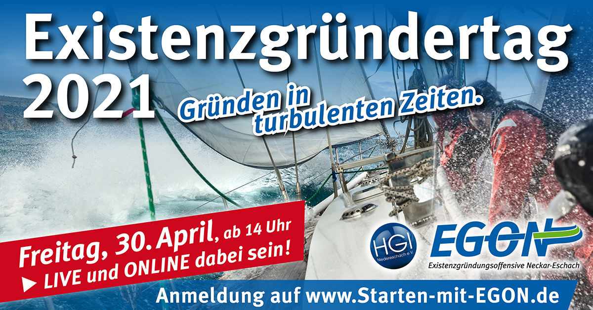 Logog EGON Existenzgründertag 2021
